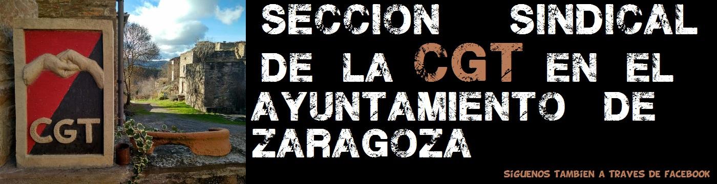 LA WEB DE LA CGT EN EL AYUNTAMIENTO DE ZARAGOZA