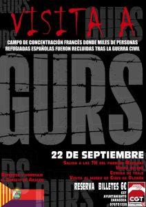 RECORDATORIO DEL VIAJE AL CAMPO DE CONCENTRACION DE GURS (FRANCIA)