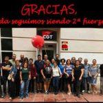 CGT segunda fuerza sindical entre el profesorado aragonés. ¡¡ enhorabuena compañeras y compañeros!!