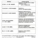 PRÓXIMA ENTREGA DE VESTUARIO