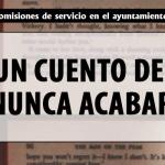 """EL CUENTO DE NUNCA ACABAR. HOY, 6 NUEVAS """"COMISIONES DE SERVICIO"""""""