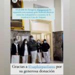 AZCÓN Y SU PROPAGANDA BARATA EN LA CASA AMPARO